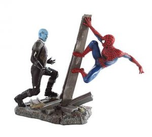 amazing spider-man 2 electro statue set blu ray 3d